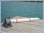 Model #101-SS - 6 buoy course with vinyl coated stainless steel mainline